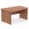 Impulse 1400 Left Hand Wave Desk Walnut