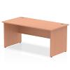 Impulse Panel End 1600 Rectangle Desk Beech