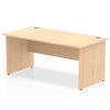 Impulse Panel End 1600 Rectangle Desk Maple