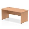 Impulse Panel End 1600 Rectangle Desk Oak