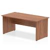 Impulse Panel End 1600 Rectangle Desk Walnut