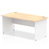 Impulse Panel End 1600 Rectangle Desk with White Panels Maple
