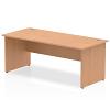 Impulse Panel End 1800 Rectangle Desk Oak
