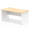 Impulse Panel End 1800 Rectangle Desk with White Panels Maple