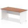 Impulse Panel End 1800 Rectangle Desk with White Panels Walnut