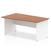 Impulse Panel End 1400 Left Hand Wave Desk Walnut