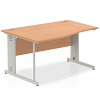 Impulse 1400 Left Hand Wave Desk Oak