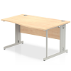 Impulse 1400 Right Hand Wave Desk Maple