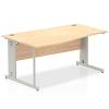 Impulse 1600 Left Hand Wave Desk Maple