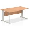 Impulse 1600 Left Hand Wave Desk Oak