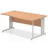 Impulse 1600 Right Hand Wave Desk Oak