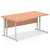 Impulse 1600 Left Hand Wave Desk with Cantilever Leg Beech