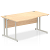 Impulse 1600 Left Hand Wave Desk with Cantilever Leg Maple