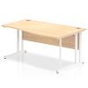 Impulse 1600 Right Hand White Cantilever Leg Wave Desk