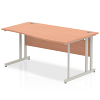 Impulse 1600 Right Hand Wave Desk with Cantilever Leg Beech