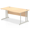 Impulse 1600 Right Hand Wave Desk with Cantilever Leg Maple