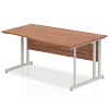 Impulse 1600 Right Hand Wave Desk with Cantilever Leg Walnut