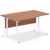 Impulse 1400 Left Hand White Cantilever Leg Wave Desk
