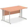 Impulse 1400 Left Hand Wave Desk with Cantilever Leg Beech