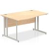 Impulse 1400 Left Hand Wave Desk with Cantilever Leg Maple