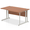 Impulse 1400 Right Hand Wave with Cantilever Leg Walnut