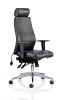 Onyx Ergo Posture Chair Bonded Leather With Headrest Black