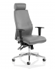 Onyx Ergo Posture Chair Bonded Leather With Headrest Grey