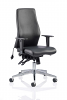 Onyx Ergo Posture Chair Bonded Leather Without Headrest Black