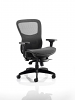 Black Mesh Seat And Back Chair With Arms