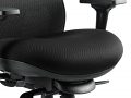 Chair Black Airmesh Seat And Mesh Back With Arms With Headrest