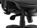 Black Mesh Seat And Back Chair With Arms With Headrest