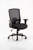 Portland HD Task Operator Chair Black Mesh With Arms Black Fabric