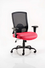 Portland HD Task Operator Chair Black Mesh With Arms Bergamot Cherry