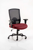 Portland HD Task Operator Chair Black Mesh With Arms Ginseng Chilli