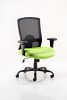 Portland HD Task Operator Chair Black Mesh With Arms Myrrh Green