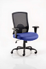 Portland HD Task Operator Chair Black Mesh With Arms Stevia Blue