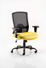 Portland HD Task Operator Chair Black Mesh With Arms Senna Yellow
