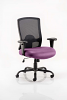 Portland HD Task Operator Chair Black Mesh With Arms Tansy Purple