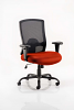 Portland HD Task Operator Chair Black Mesh With Arms Tobasco Red