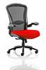 Houston Heavy Duty Task Operator Chair Mesh Back Seat With Arms Bergamot Cherry