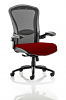 Houston Heavy Duty Task Operator Chair Mesh Back Seat With Arms Ginseng Chilli