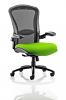 Houston Heavy Duty Task Operator Chair Mesh Back Seat With Arms Myrrh Green