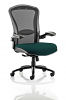 Houston Heavy Duty Task Operator Chair Mesh Back Seat With Arms Maringa Teal