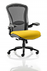 Houston Heavy Duty Task Operator Chair Mesh Back Seat With Arms Senna Yellow