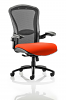Houston Heavy Duty Task Operator Chair Mesh Back Seat With Arms Tobasco Red