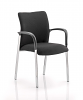 Academy Visitor Chair Black Fabric Back With Arms Black