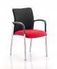 Academy Visitor Chair Black Fabric Back With Arms Bergamot Cherry