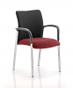 Academy Visitor Chair Black Fabric Back With Arms Ginseng Chilli