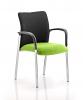 Academy Visitor Chair Black Fabric Back With Arms Myrrh Green