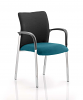 Academy Visitor Chair Black Fabric Back With Arms Maringa Teal
